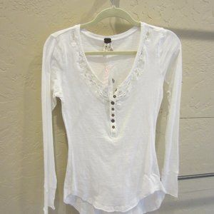Free People Cotton Henley size S